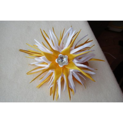 "Hairclip ""Golden Aster"""
