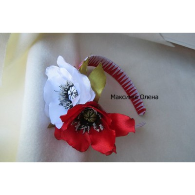 "Hair band ""Lucky Poppies"""
