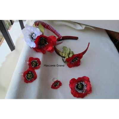 "Jewellery Set ""Lucky Poppies"""