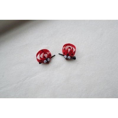 "Hairclip (pair) ""Lady Bug"""
