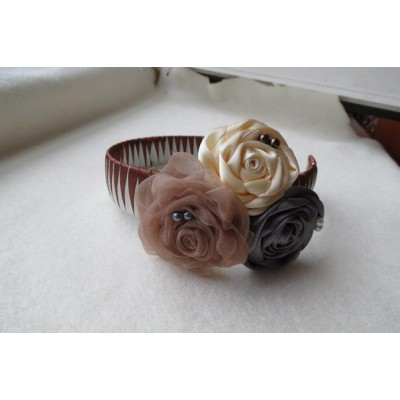 "Hair band ""Chocolate Roses"""