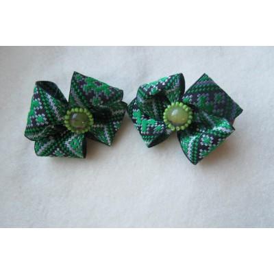 """Hairclip (pair) """"Greeny"""""""