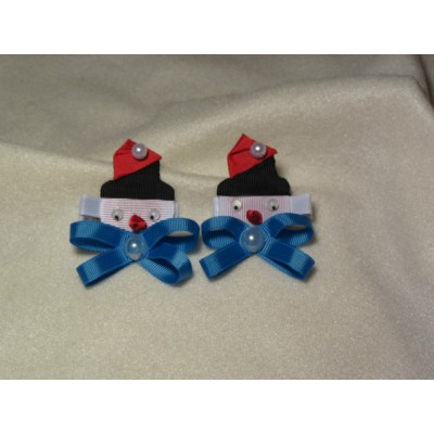 "Hairclip (pair) ""Christmas Story"""