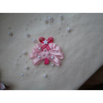 "Hairclip ""Christmas Tree Pink"""