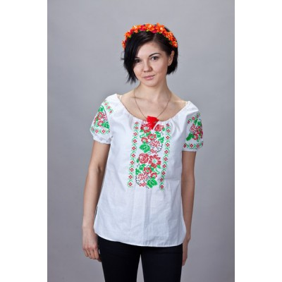"Embroidered  blouse ""Leaves&Berries"""