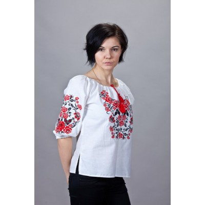 """Embroidered  blouse """"Roses Traditional"""""""