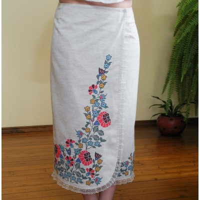 "Sale!! ""Arezou"" SS17 Embroidered Maxi Skirt (M, L)"