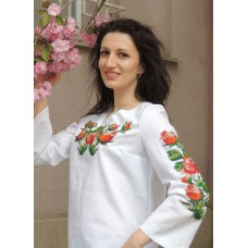 """Beads Embroidered Blouse """"Gentle Morning"""""""
