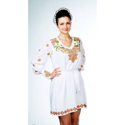 """Beads Embroidered Dress """"Ornament"""""""