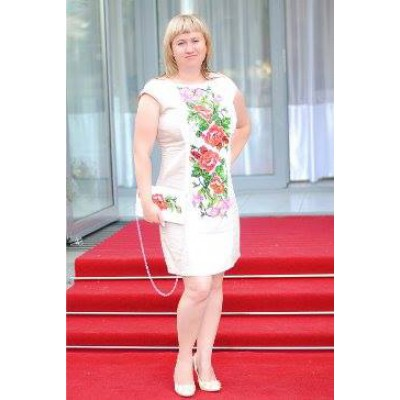 """Beads Embroidered Dress """"Classic"""""""