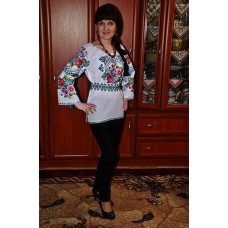 "Beads Embroidered Blouse ""Ukrainian Harmony"""
