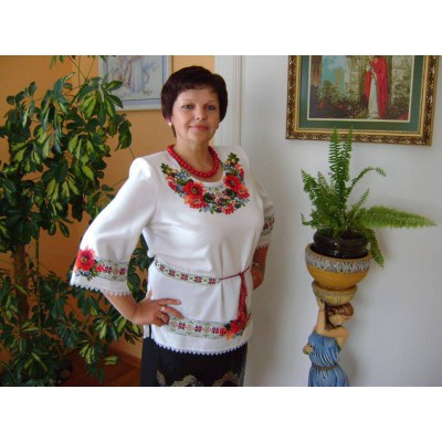 "Beads Embroidered Blouse ""Beauty of Traditions"""