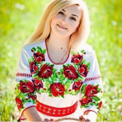 """Beads Embroidered Blouse """"Sunny Day"""""""