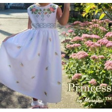 """Beads Embroidered Dress for girl """"Princess of May"""""""