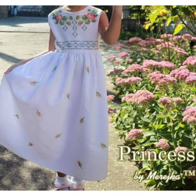 "Beads Embroidered Dress for girl ""Princess of May"""