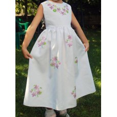 """Beads Embroidered Dress for girl """"Princess of July"""""""
