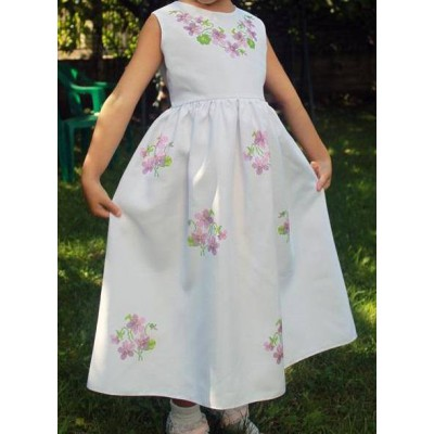 "Beads Embroidered Dress for girl ""Princess of July"""