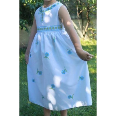 "Beads Embroidered Dress for girl ""Princess of August"""