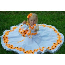 """Beads and Ribbons Embroidered Dress and Handbag for girl """"Gorgeous"""""""