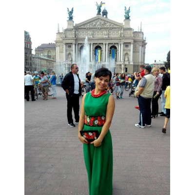 """Beads Embroidered Dress and Clutch """"Lviv Lady"""""""