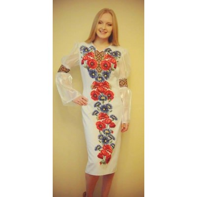 """Beads Embroidered Dress """"Queen of Wildflowers"""""""