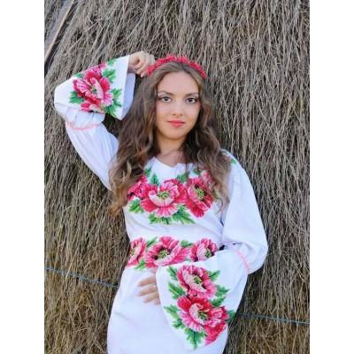 "Beads Embroidered Dress ""Rose Garden"""