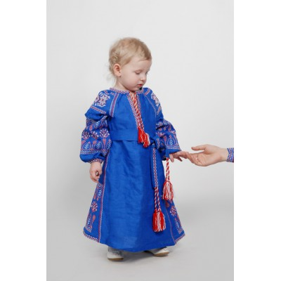 Boho Style Ukrainian Embroidered Dress for a Girl 2