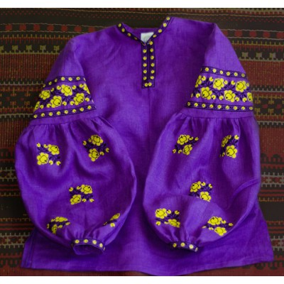 "Boho Style Ukrainian Embroidered Folk  Blouse ""Sun"" 1"