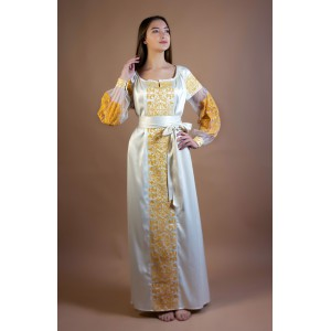 "Embroidered Dress ""Golden Lotus"""