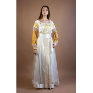 "Embroidered Dress ""Golden Lotus"" plus"