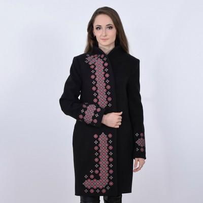 """Embroidered coat """"Chestnut"""" black"""