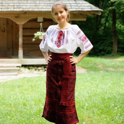 Traditional Skirt (Plakhta) Red