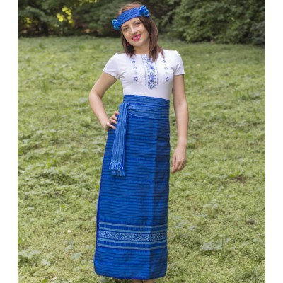 Traditional Skirt (Plakhta) Blue
