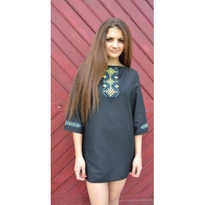 "Embroidered dress ""August Nights"""