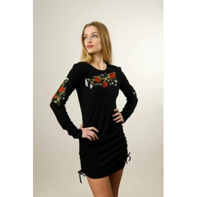 """Embroidered dress """"Courageous"""""""