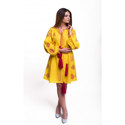 "Embroidered Dress ""Adriana"" amber"
