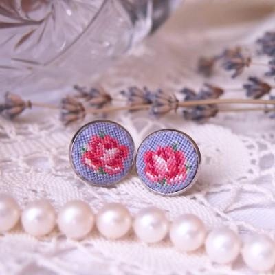 """Earrings """"Lavender Rose"""""""