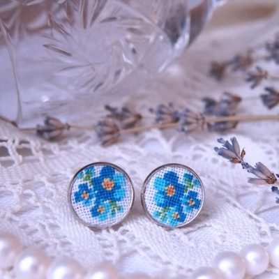 "Earrings ""Forget-me-not"""