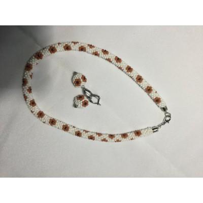 """Jewellery set """"Ukrainian #6"""" necklace+earrings"""