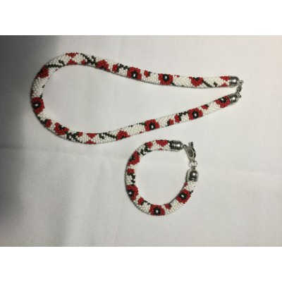 "Jewellery set ""Ukrainian #7"" necklace+bracelet"
