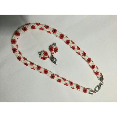 """Jewellery set """"Ukrainian #2"""" necklace+earrings"""