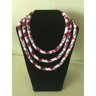 "Jewellery set ""Ukrainian #4"" 3 necklaces"