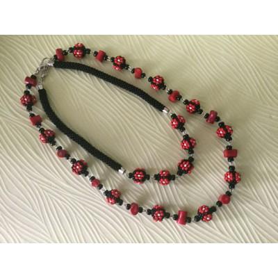 "Jewellery set ""Ukrainian #5"" 2 necklaces"