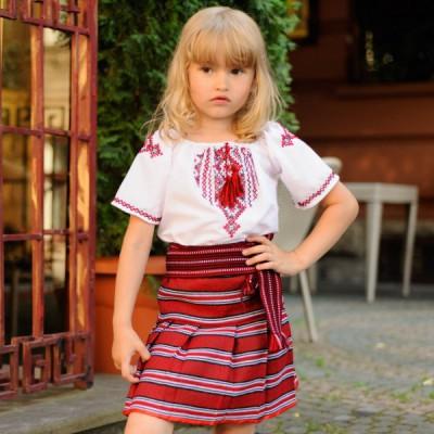 """Embroidered Skirt (plakhta) for little girl """"Traditional"""""""