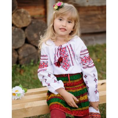 """Embroidered Skirt (plakhta) for little girl """"Modern"""""""