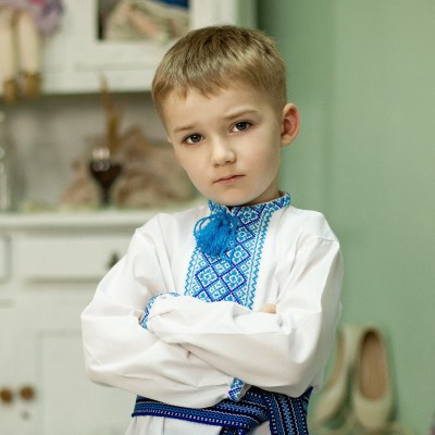 """Embroidered shirt for little boy """"Volodymyr"""""""