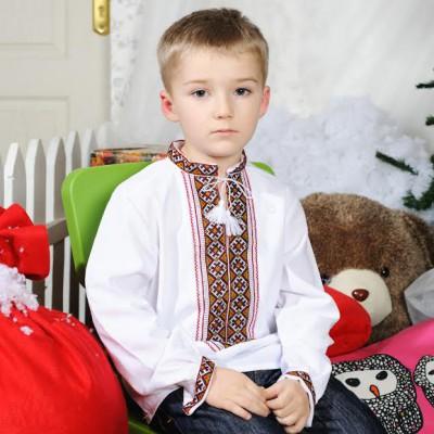 "Embroidered shirt for little boy ""Arsen"""