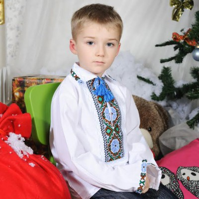"""Embroidered shirt for little boy """"Mykolay"""""""