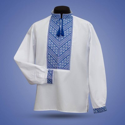 "Embroidered shirt ""Will Power"" blue"