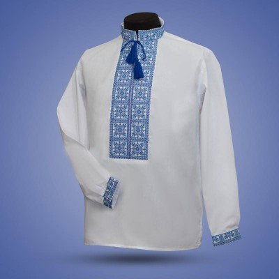 "Embroidered shirt ""Yarilo"" blue"